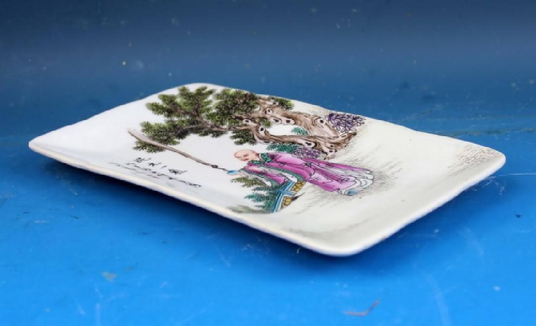 Vintage Hand Painted Porcelain Plate - 7