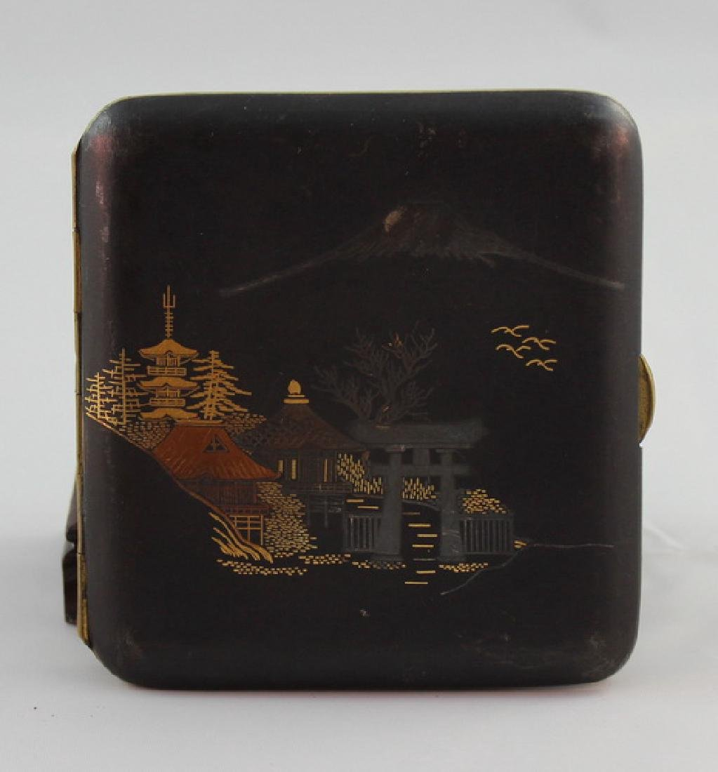 Japanese Inlaid 24K Gold Cigarette Boxes