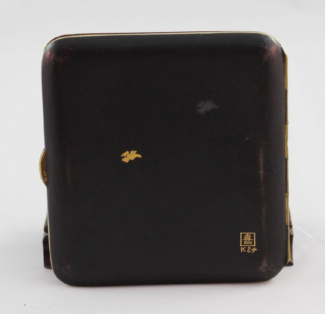 Japanese Inlaid 24K Gold Cigarette Boxes - 2
