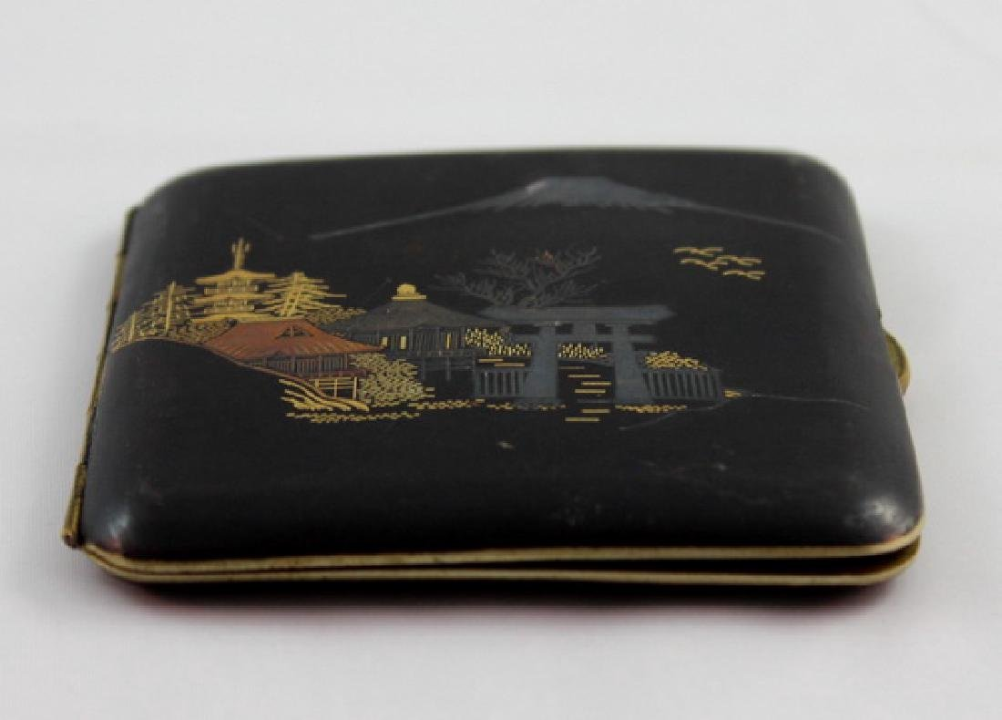 Japanese Inlaid 24K Gold Cigarette Boxes - 4