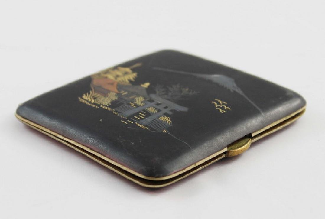 Japanese Inlaid 24K Gold Cigarette Boxes - 5