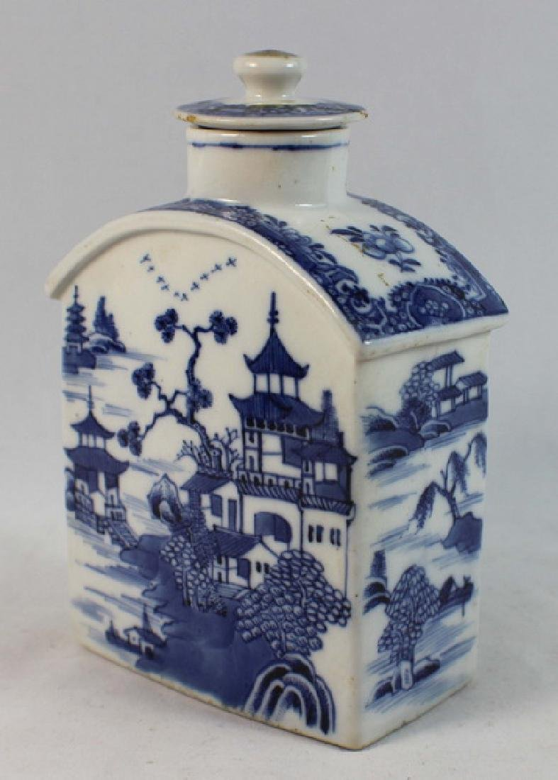 Antique Chinese Export Porcelain Teacaddy - 2