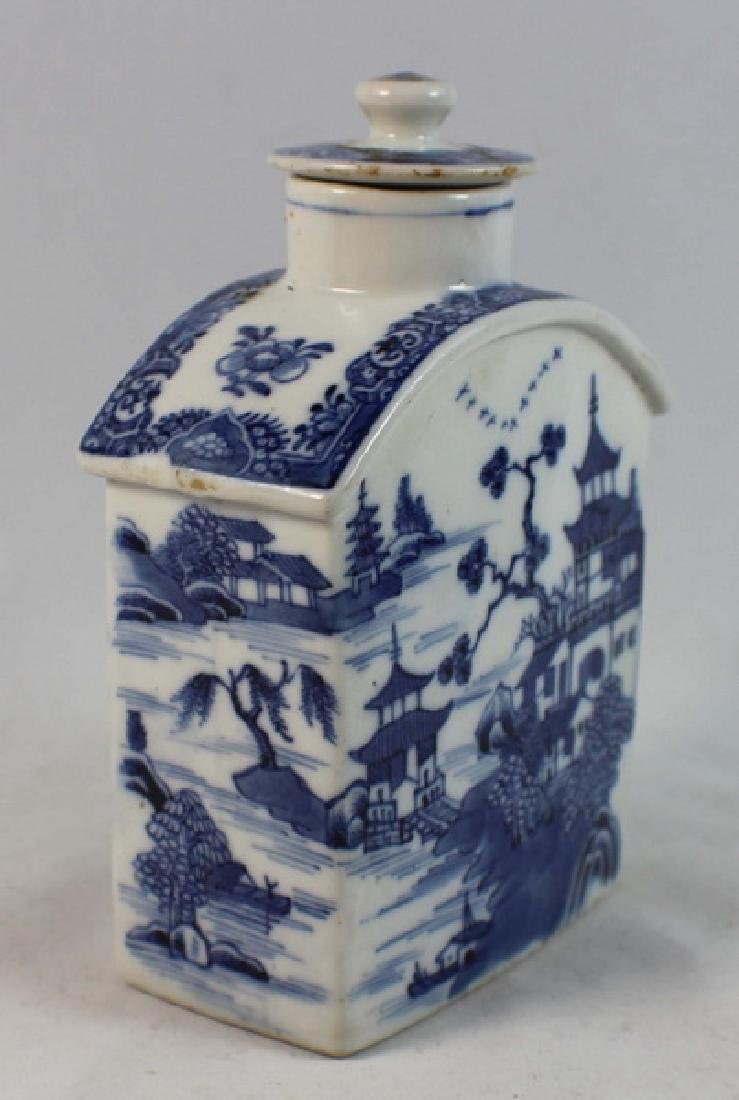Antique Chinese Export Porcelain Teacaddy - 3