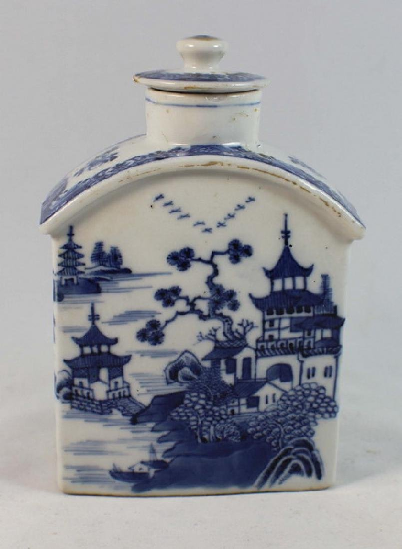 Antique Chinese Export Porcelain Teacaddy - 4