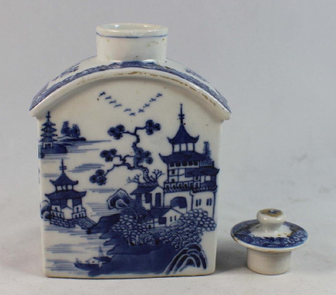 Antique Chinese Export Porcelain Teacaddy - 5