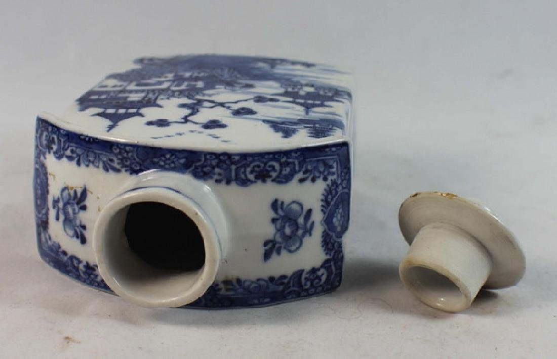 Antique Chinese Export Porcelain Teacaddy - 6