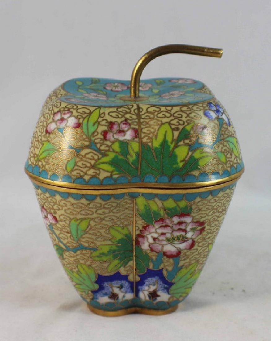 Chinese Cloisonne Enamel Box
