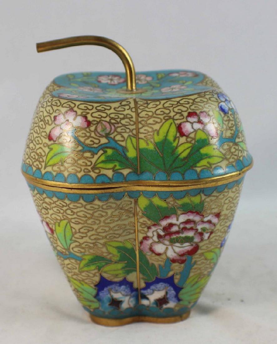 Chinese Cloisonne Enamel Box - 2