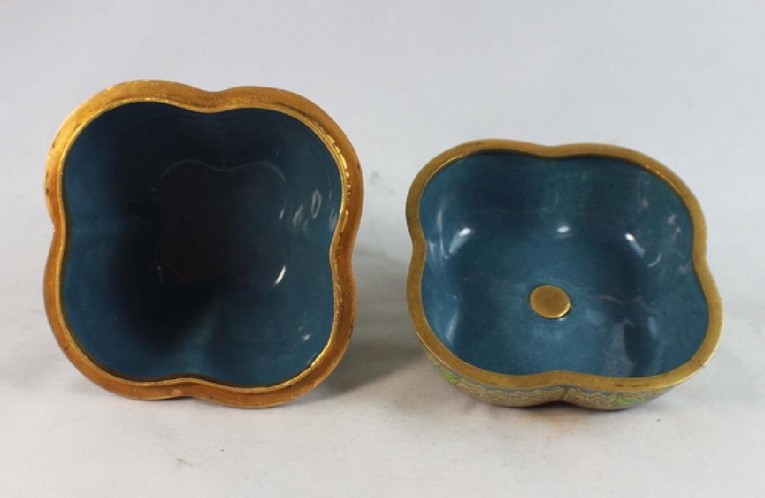 Chinese Cloisonne Enamel Box - 4
