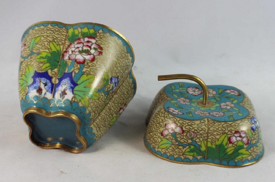 Chinese Cloisonne Enamel Box - 5