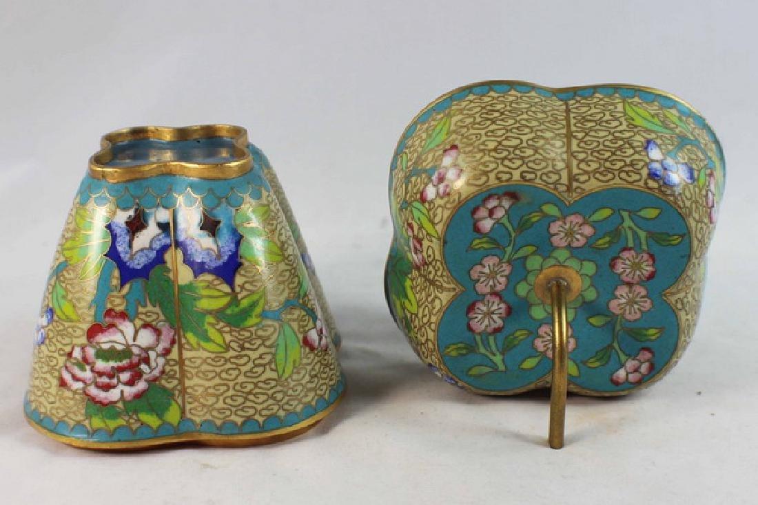 Chinese Cloisonne Enamel Box - 6