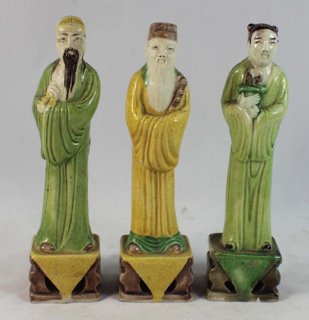 Lot Of 3 Chinese Porcelain Figures
