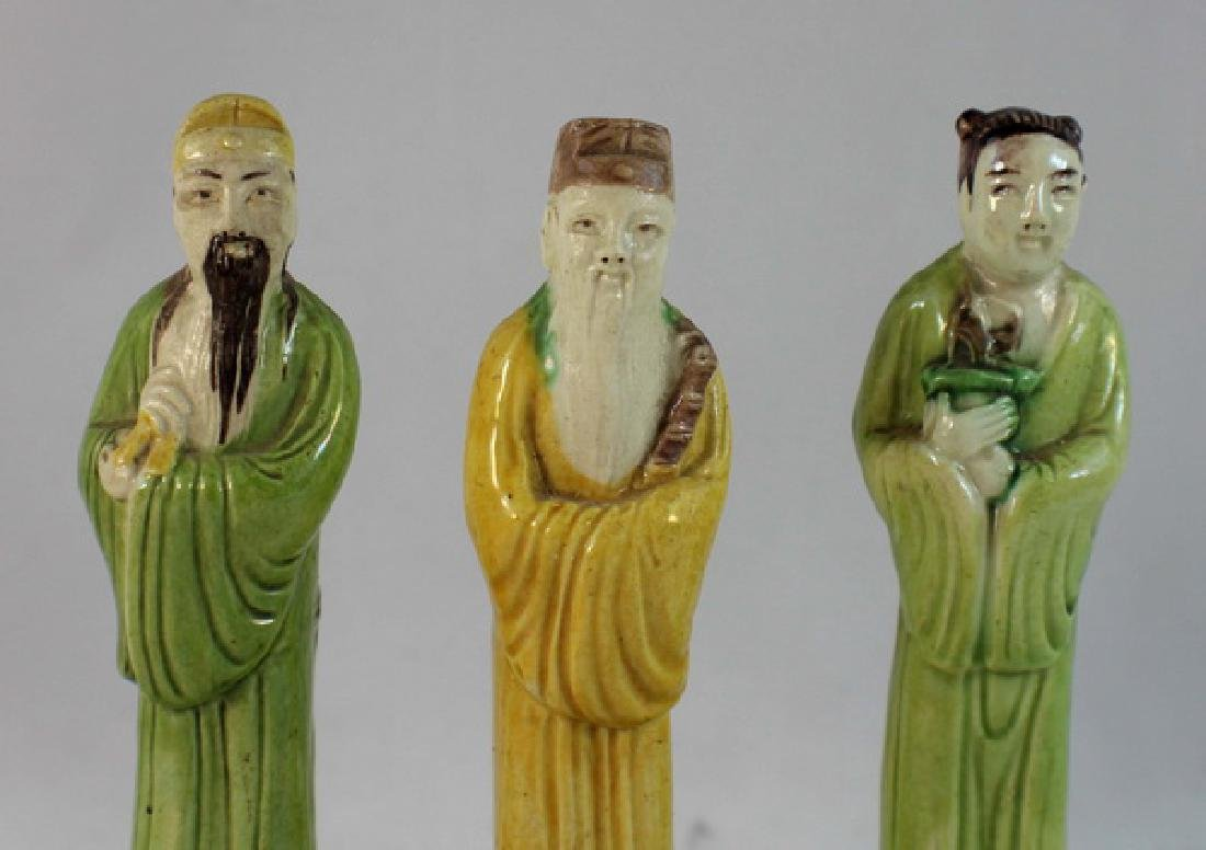 Lot Of 3 Chinese Porcelain Figures - 2