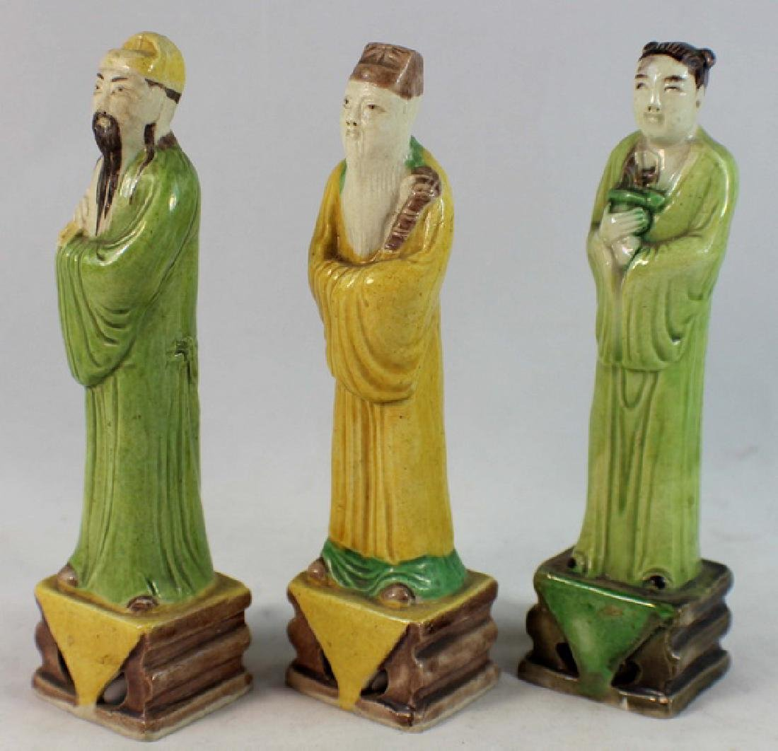 Lot Of 3 Chinese Porcelain Figures - 3