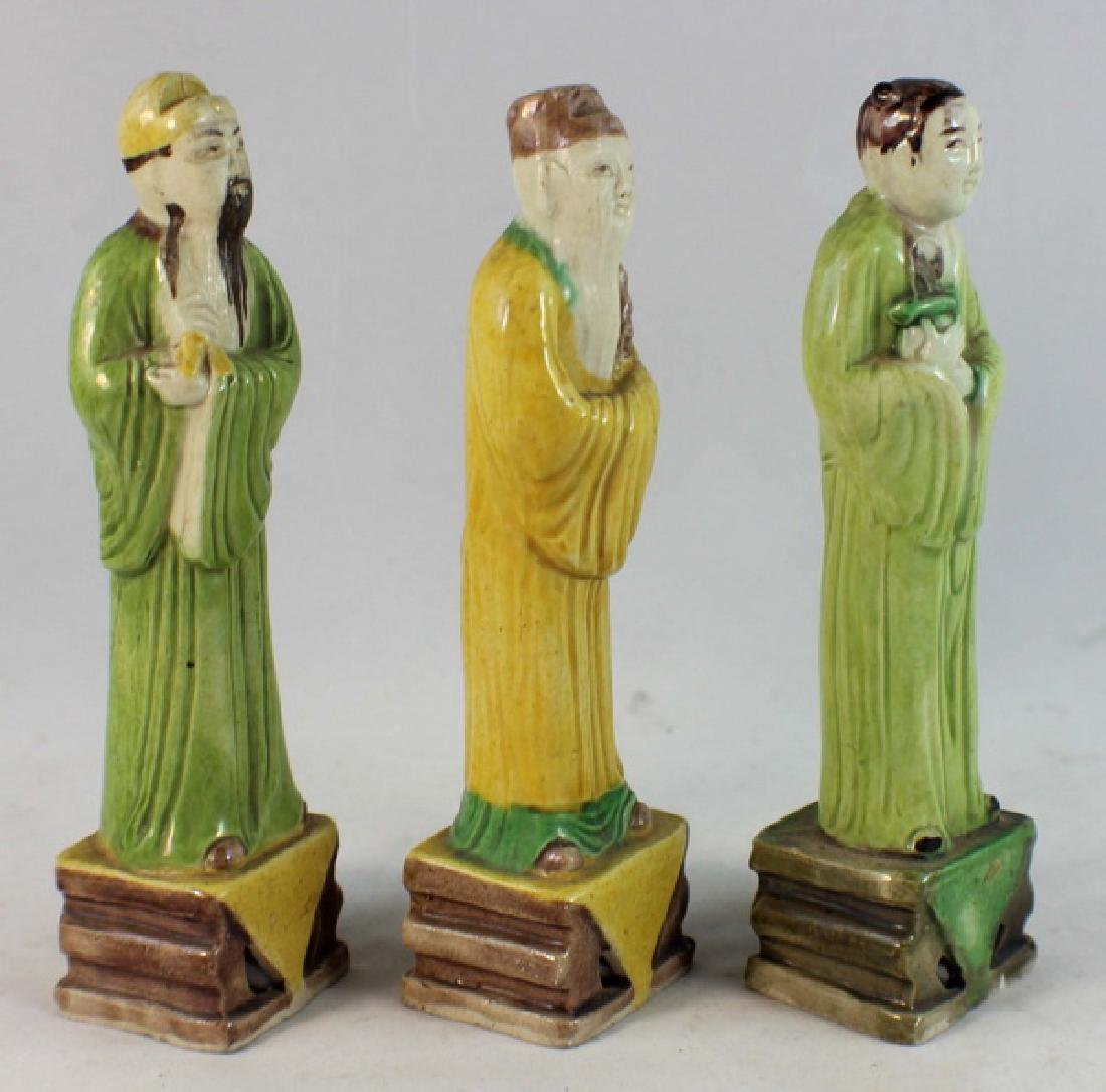 Lot Of 3 Chinese Porcelain Figures - 4