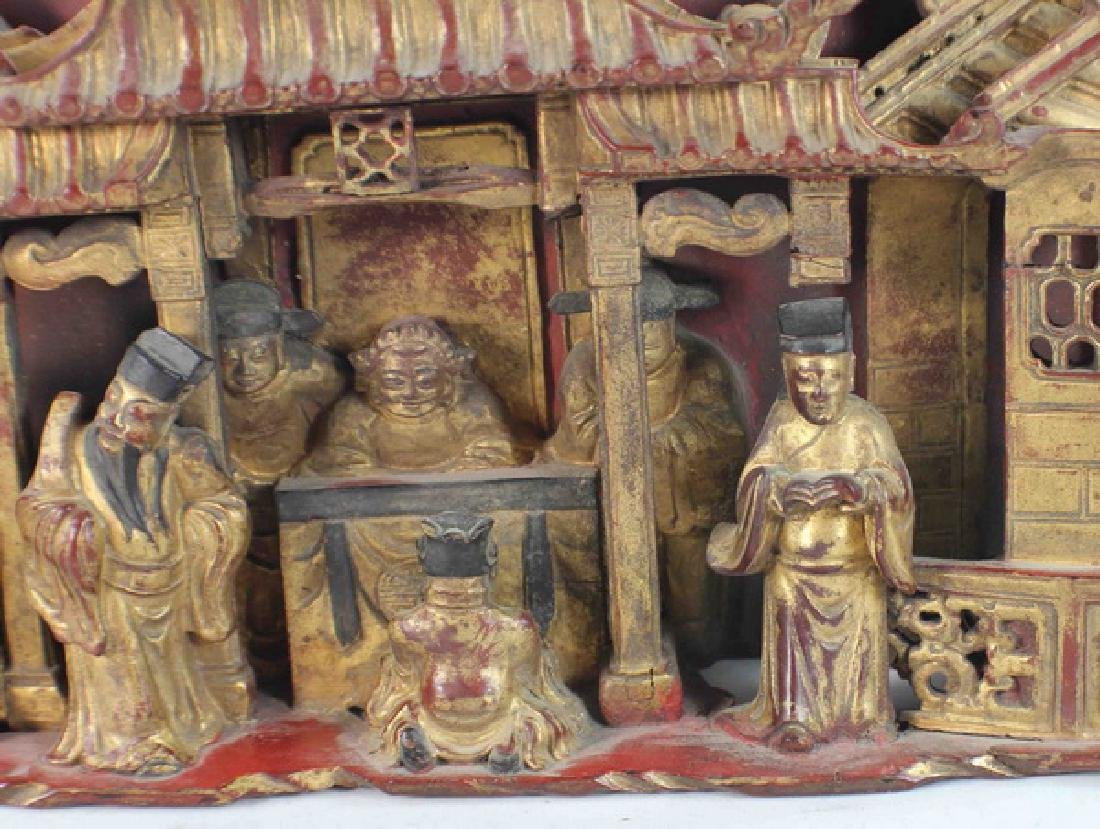 Chinese Carved Wood Hanging Screen - 5