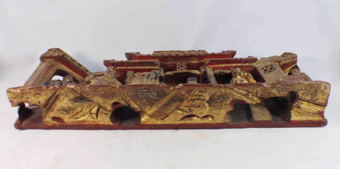 Chinese Carved Wood Hanging Screen - 8