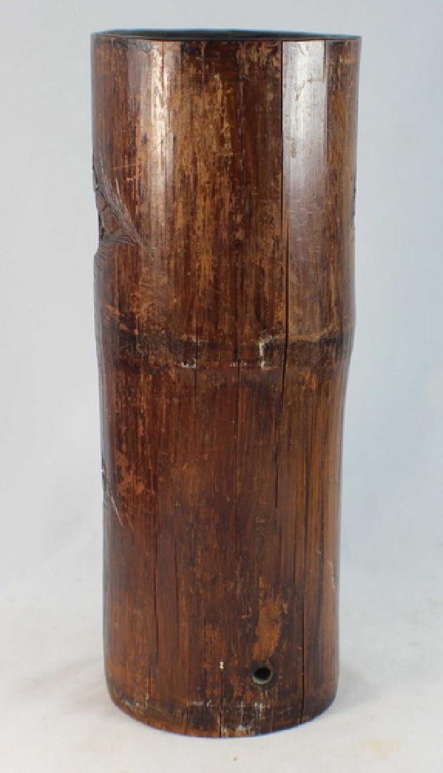 Chinese Carved Bamboo Brush Pot - 6