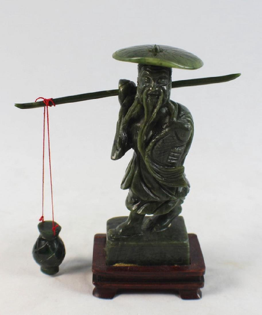 Chinese Carved Jade Fishman