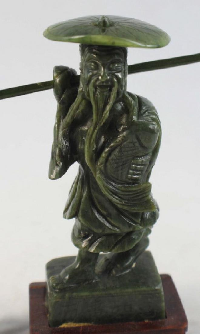 Chinese Carved Jade Fishman - 2
