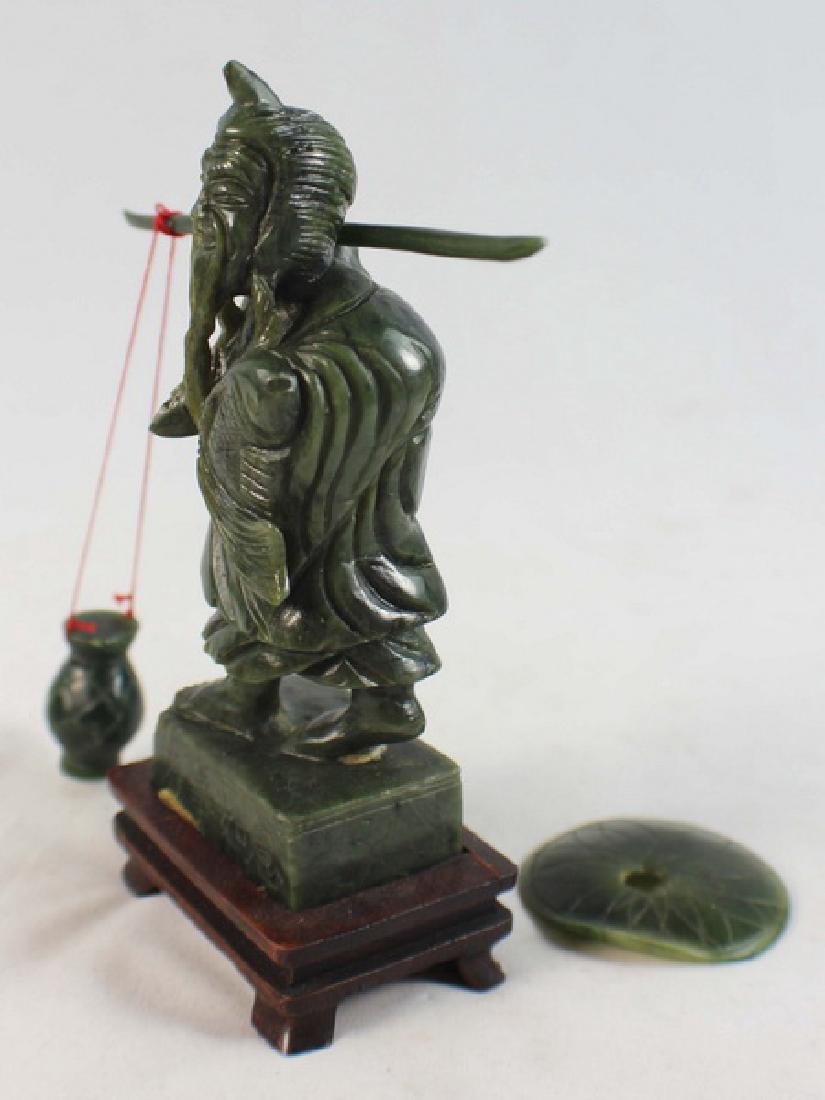 Chinese Carved Jade Fishman - 4