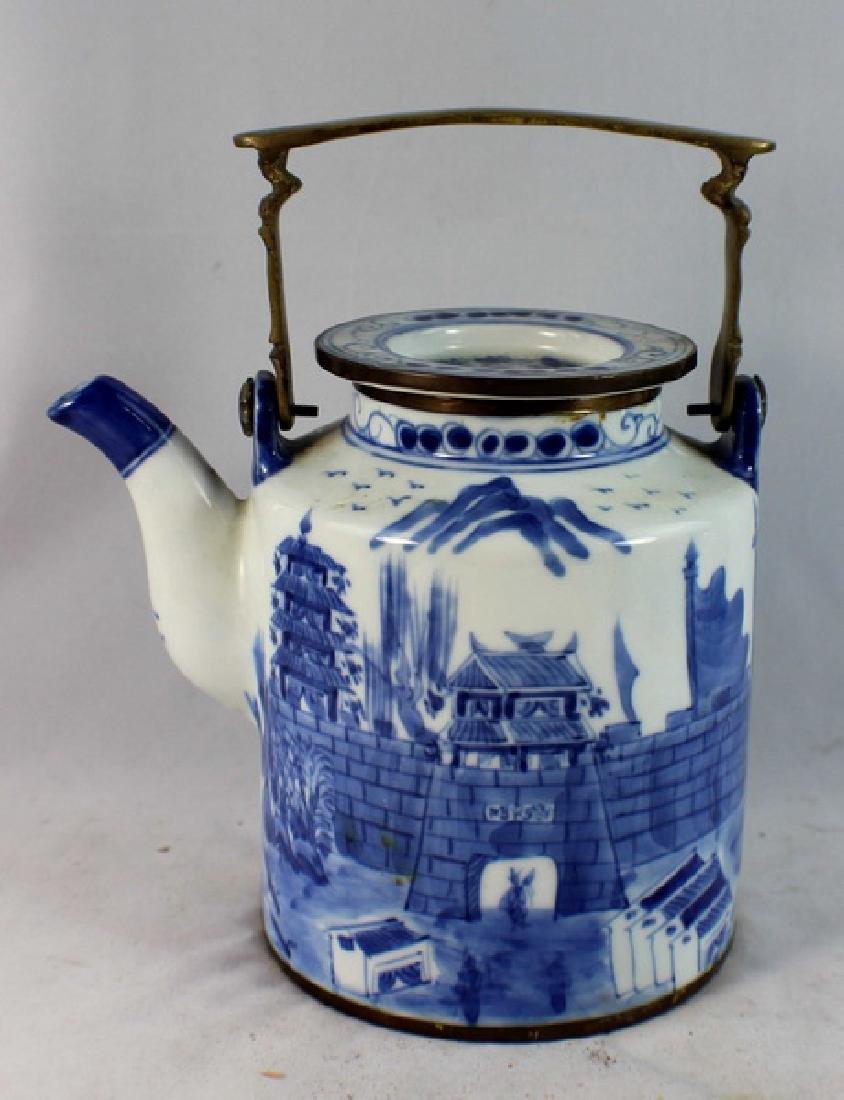 Antique Chinese Porcelain Tea Pot