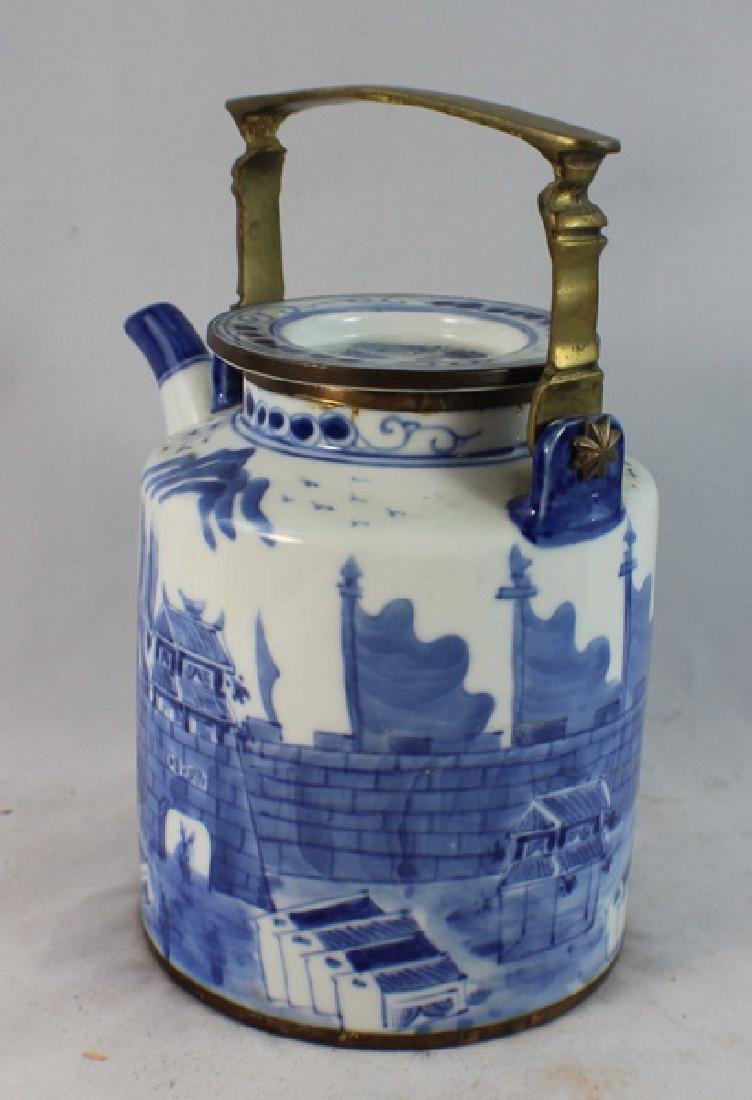 Antique Chinese Porcelain Tea Pot - 4