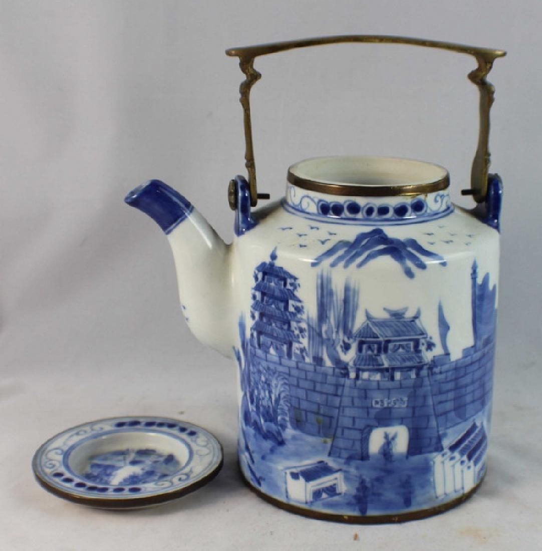 Antique Chinese Porcelain Tea Pot - 5