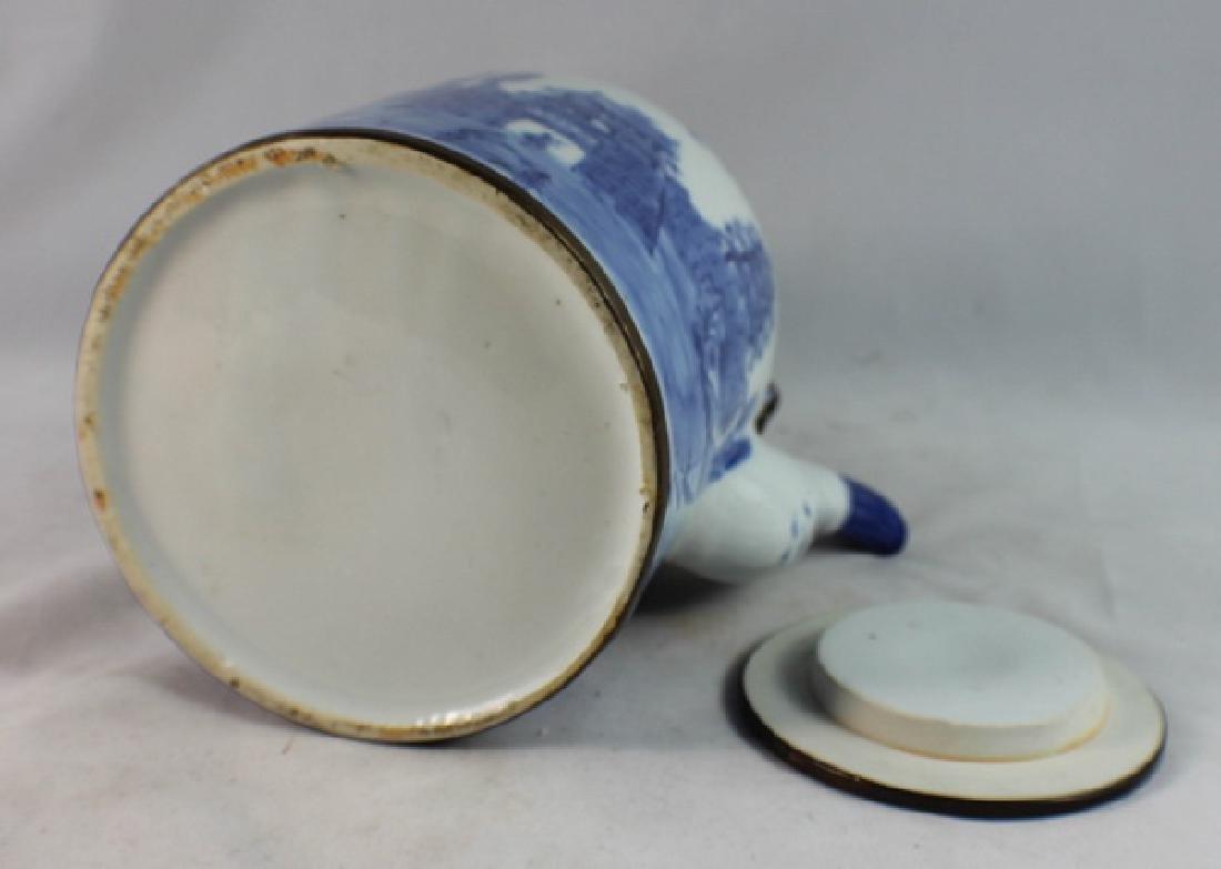 Antique Chinese Porcelain Tea Pot - 7