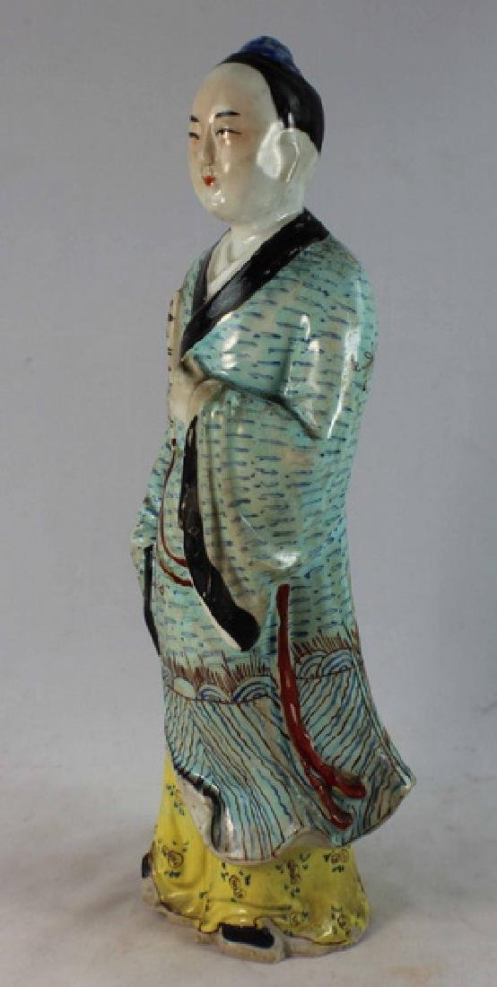 Antique Chinese Porcelain Figure w,Marked - 4