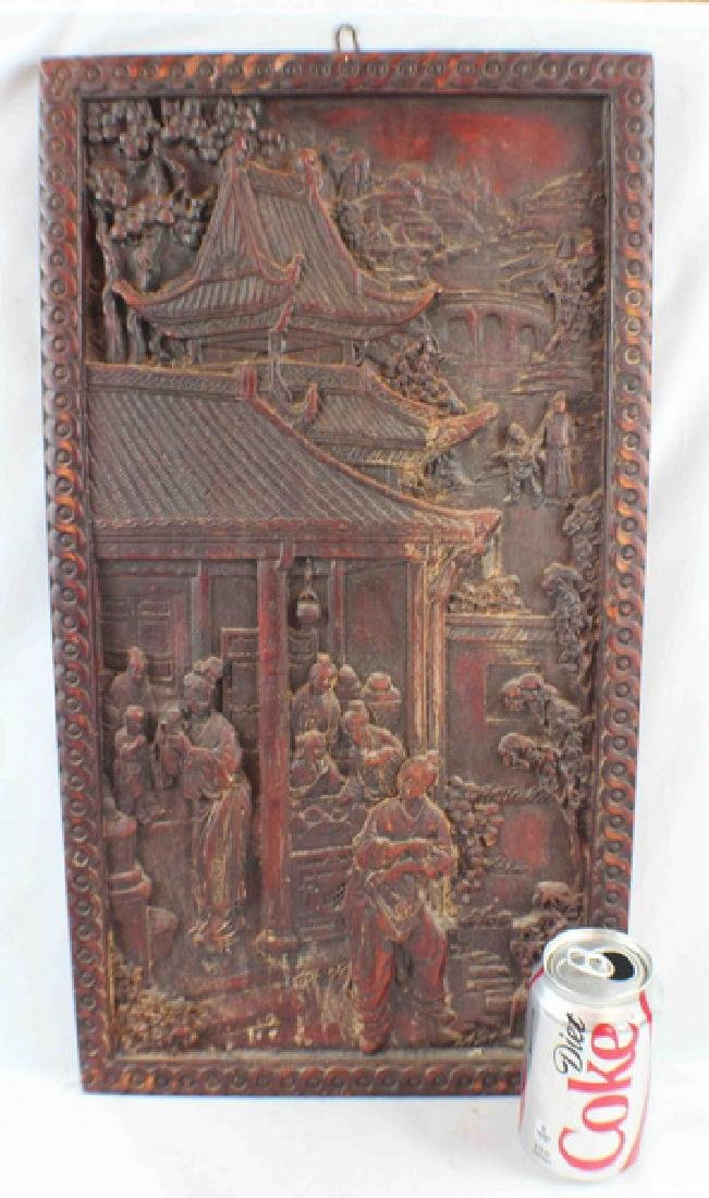 Antique Chinese Pottery Hanging Screen - 2