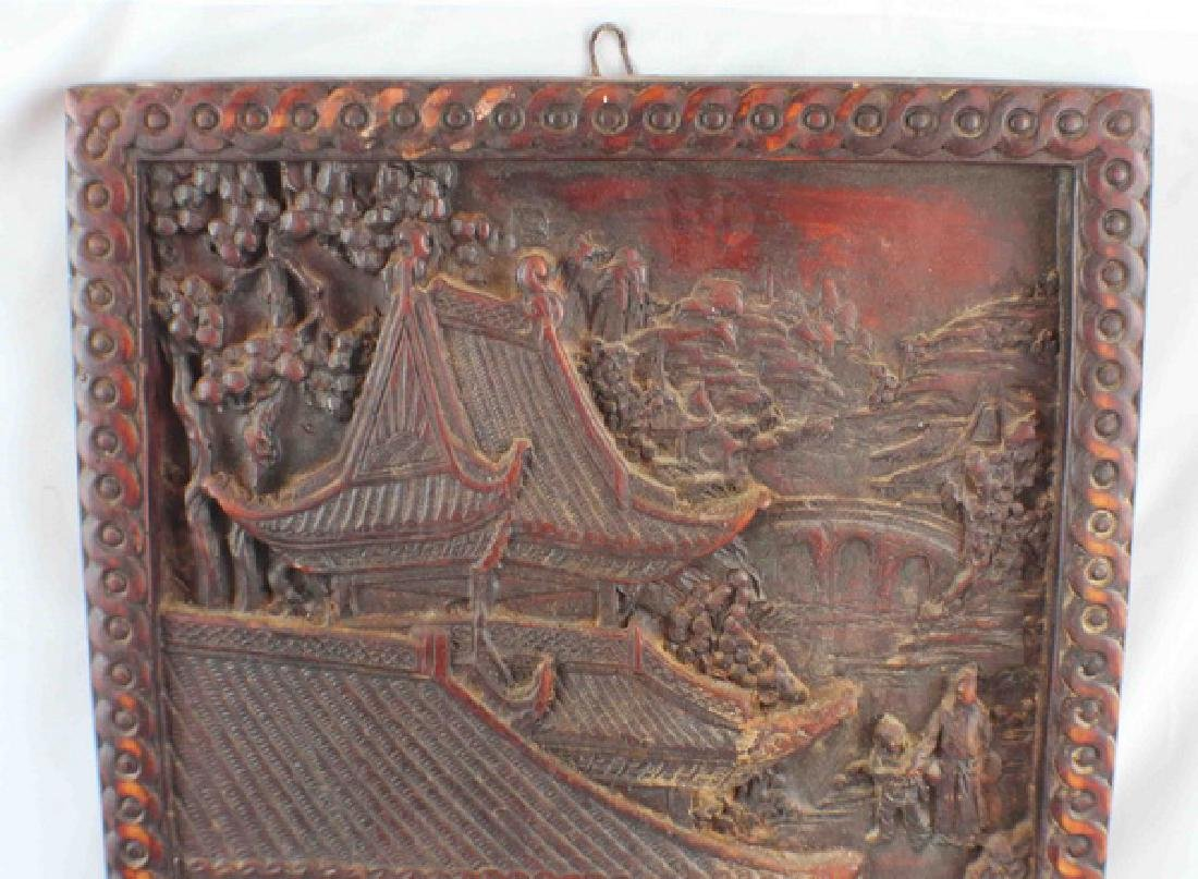 Antique Chinese Pottery Hanging Screen - 3