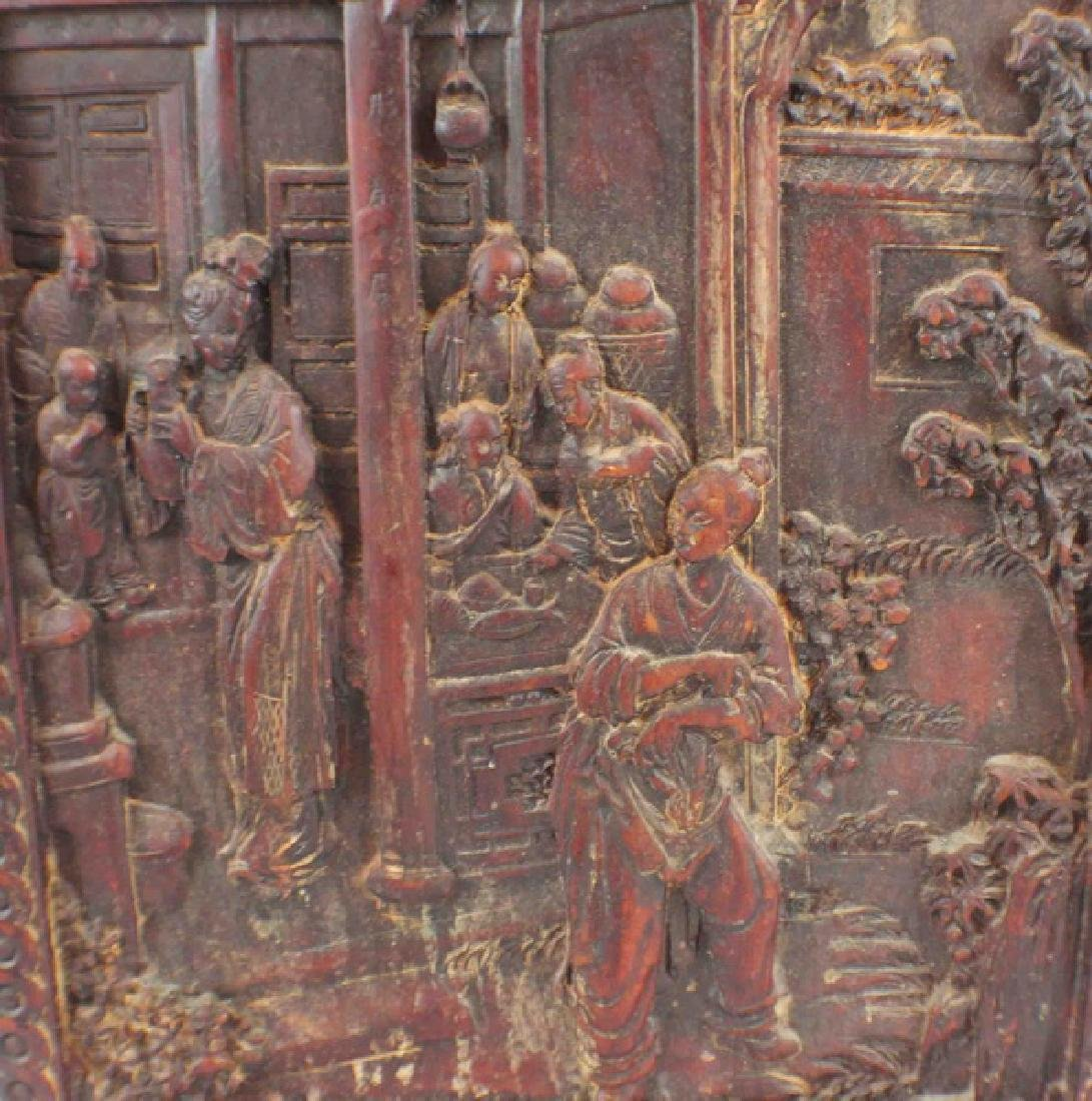 Antique Chinese Pottery Hanging Screen - 5