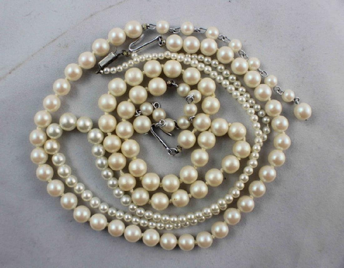 Lot Of 3 Pearl Beads Necklaces