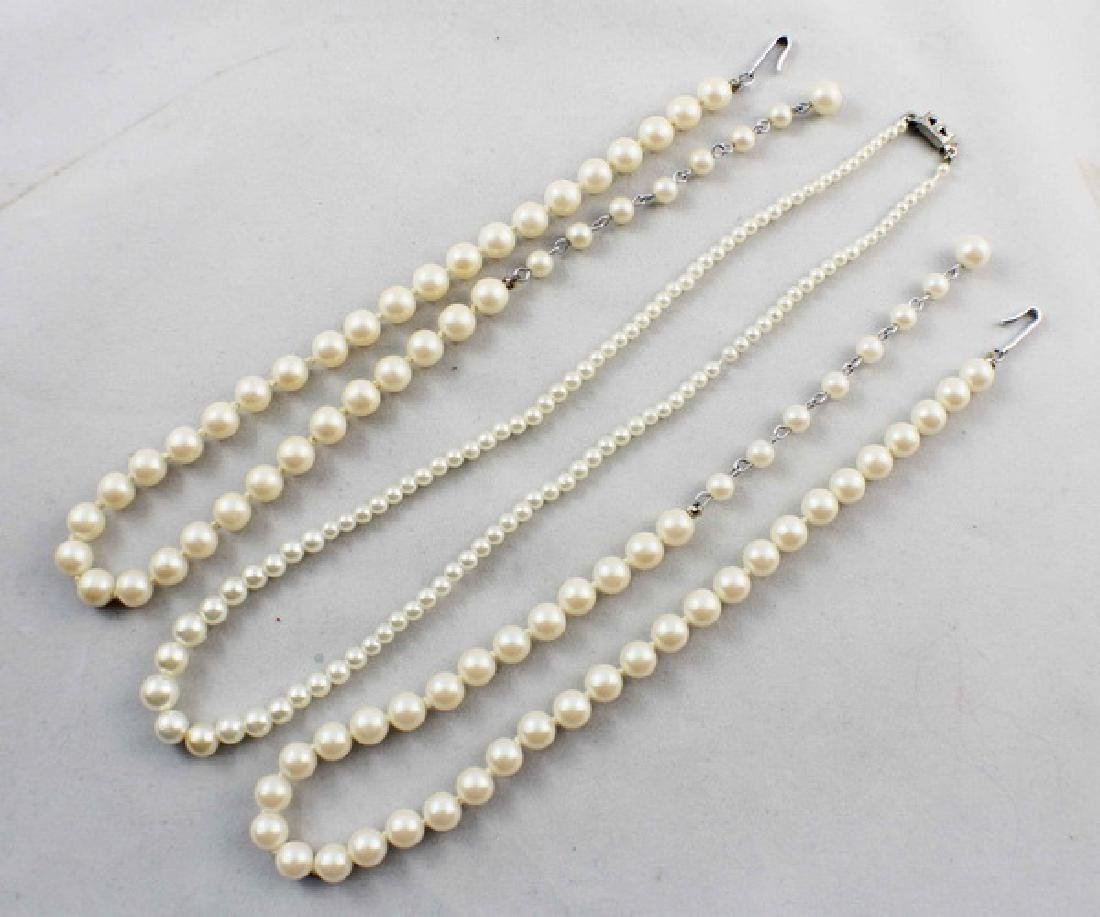 Lot Of 3 Pearl Beads Necklaces - 2