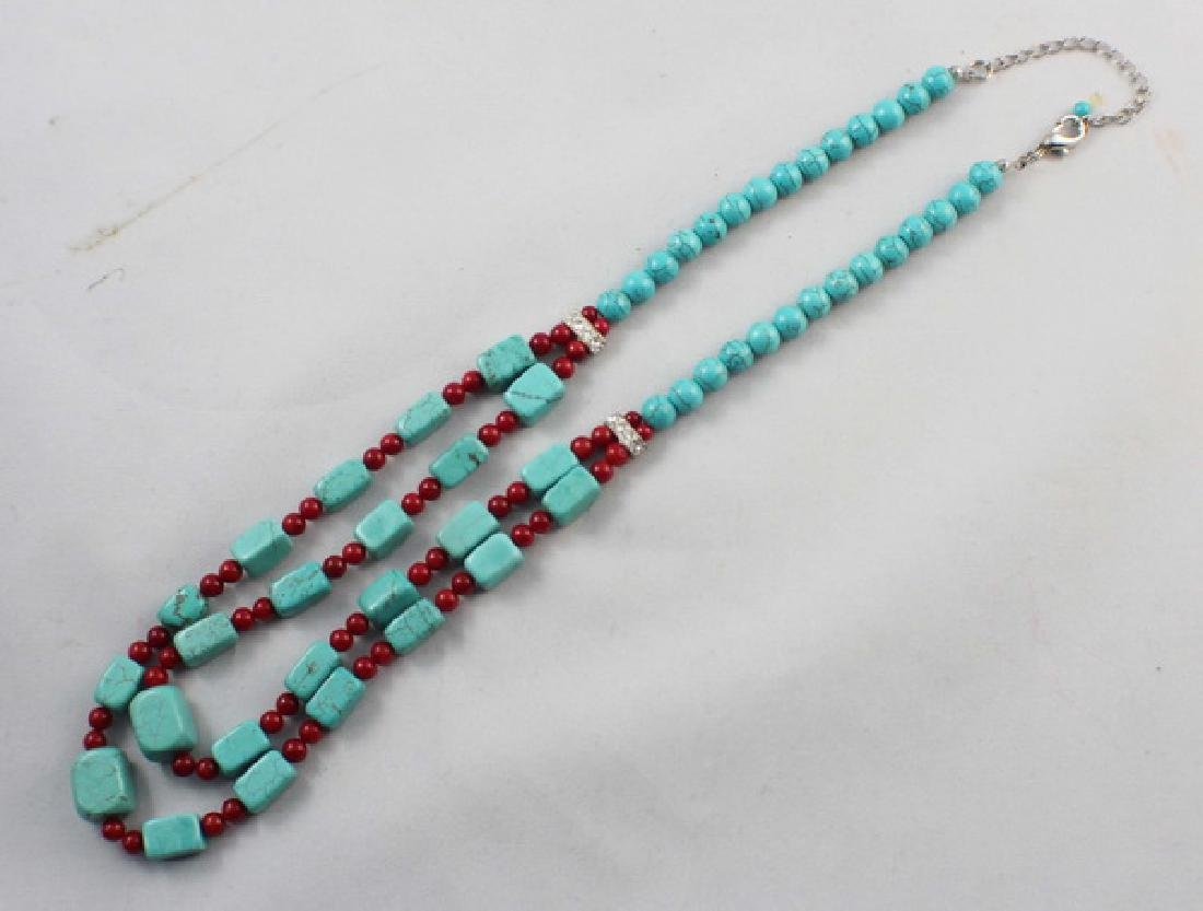Turquoise Beads Necklace