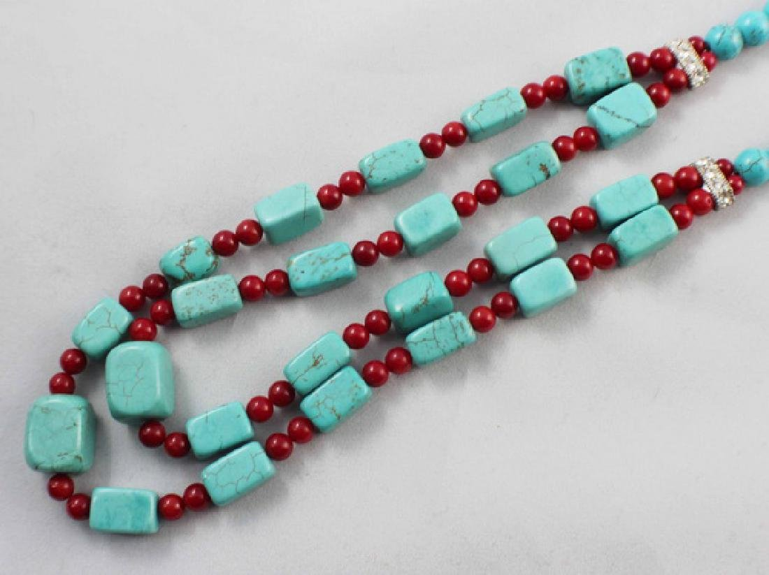 Turquoise Beads Necklace - 2