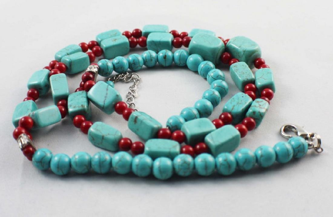 Turquoise Beads Necklace - 3