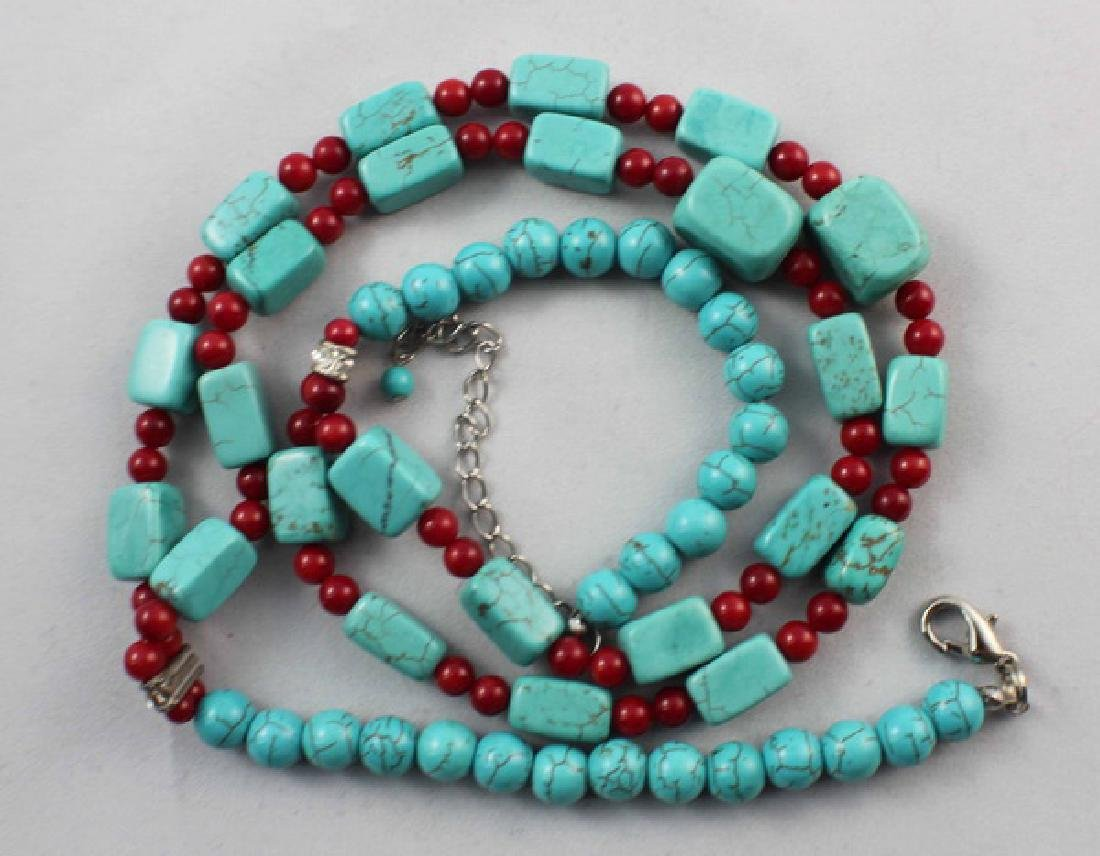 Turquoise Beads Necklace - 4