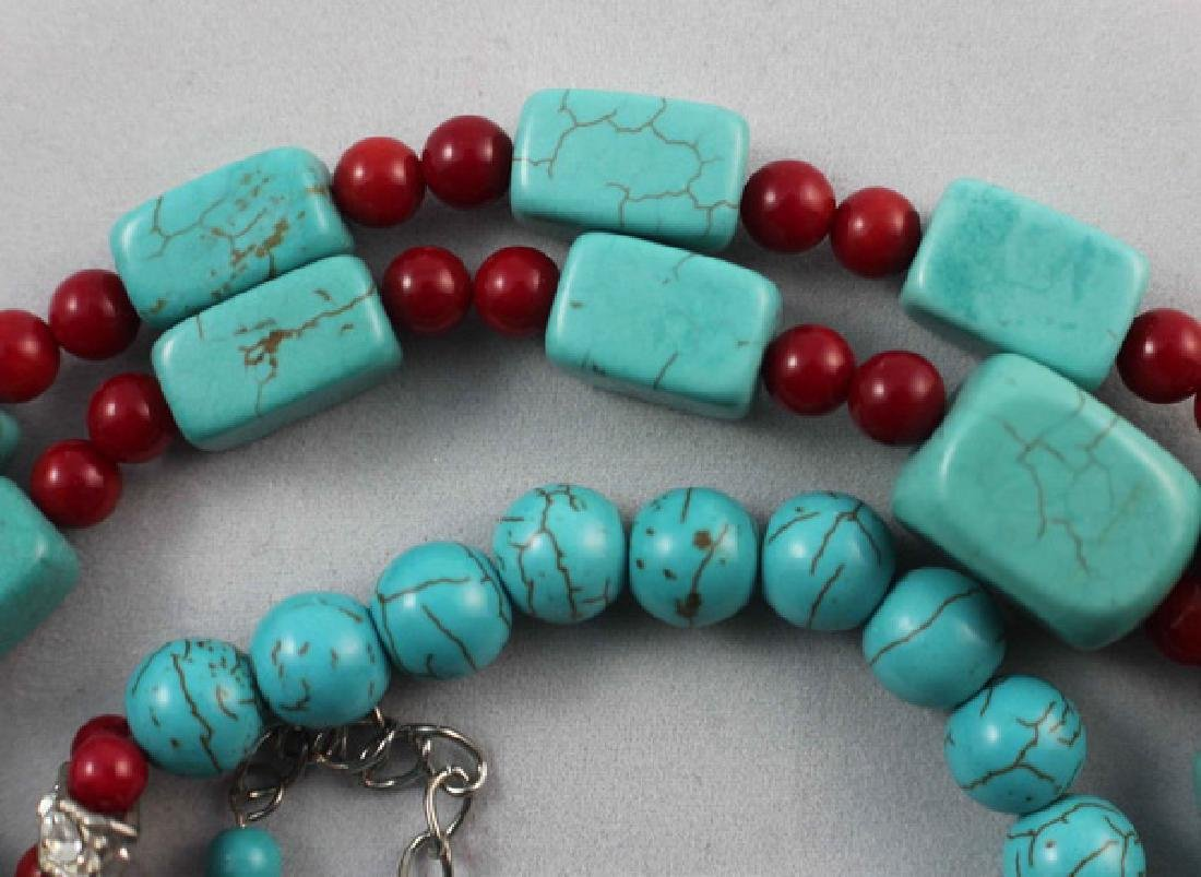 Turquoise Beads Necklace - 5