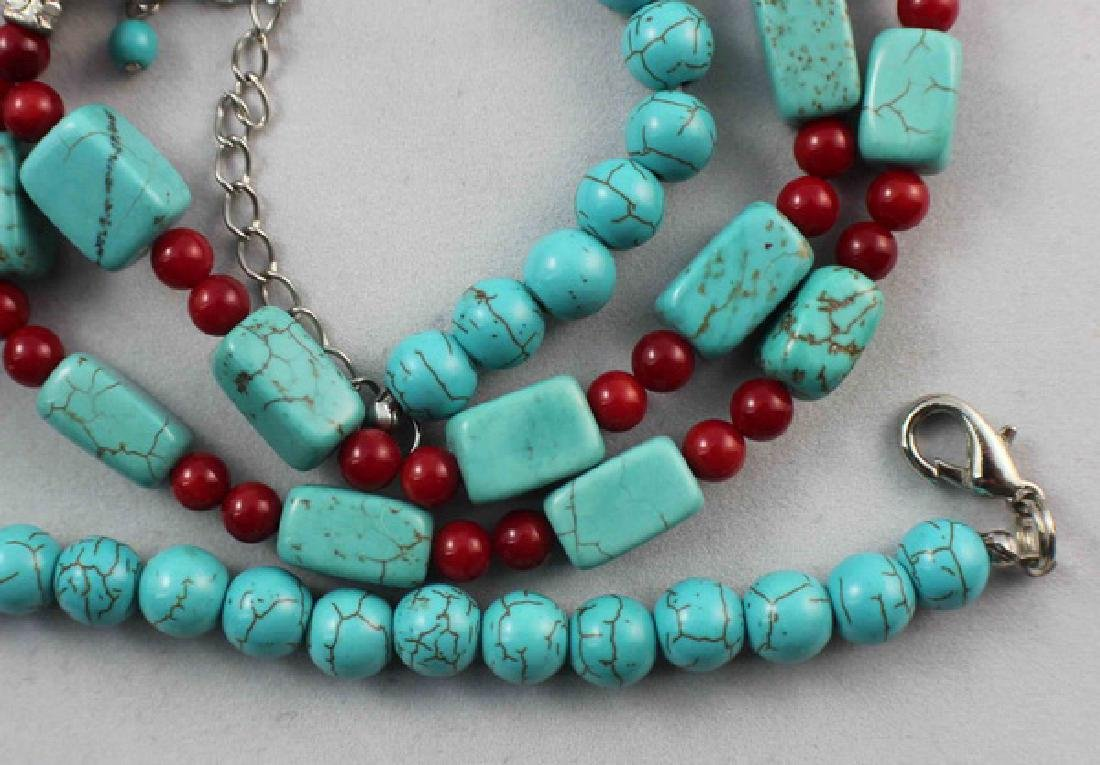 Turquoise Beads Necklace - 6