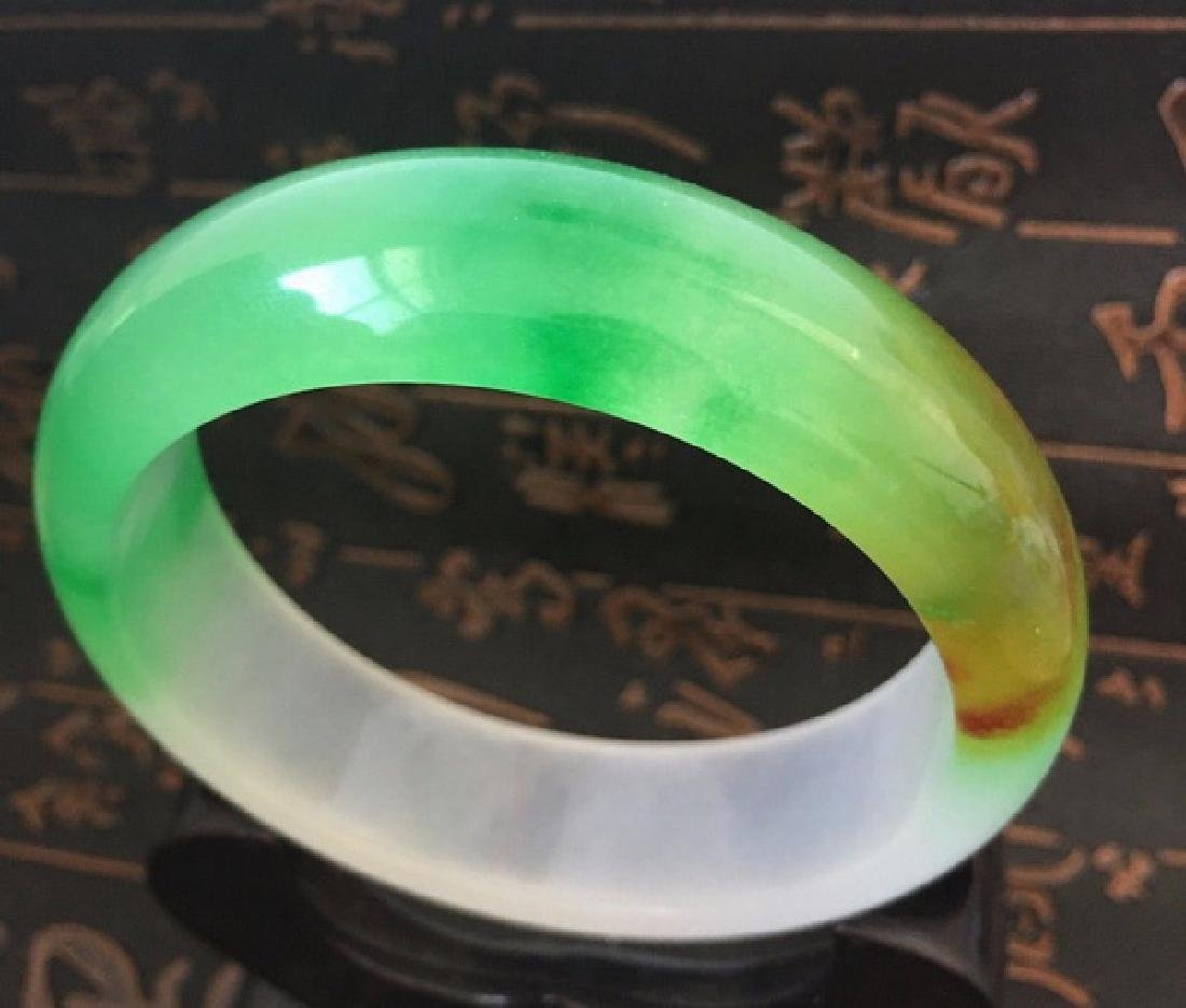 Chinese Carved Jade Bangle - 3