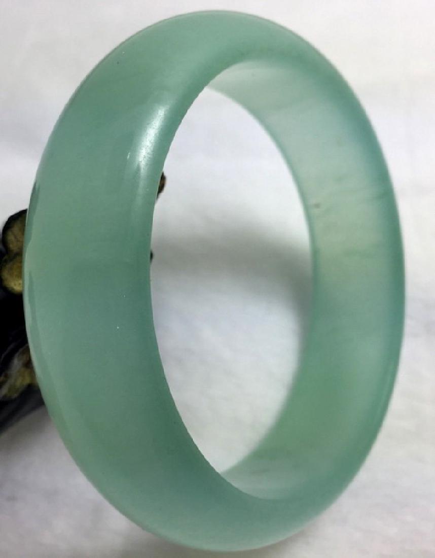 Chinese Carved Jade Bangle - 4