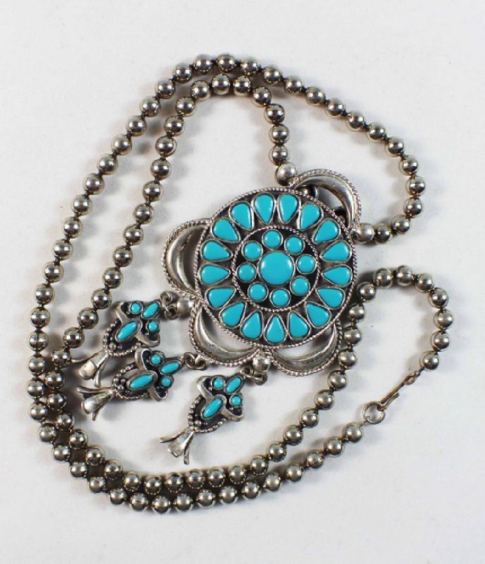 Turquoise Pendant Necklace - 3
