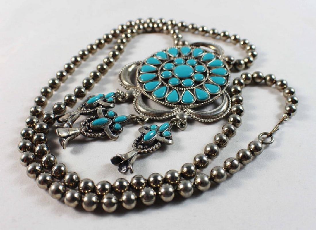 Turquoise Pendant Necklace - 4
