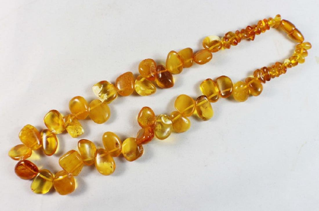 Amber Beads Necklace - 2