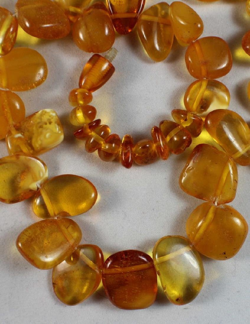 Amber Beads Necklace - 4