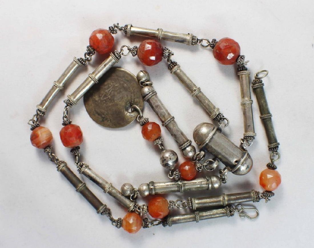 Silver With Agate Beads Necklace - 3