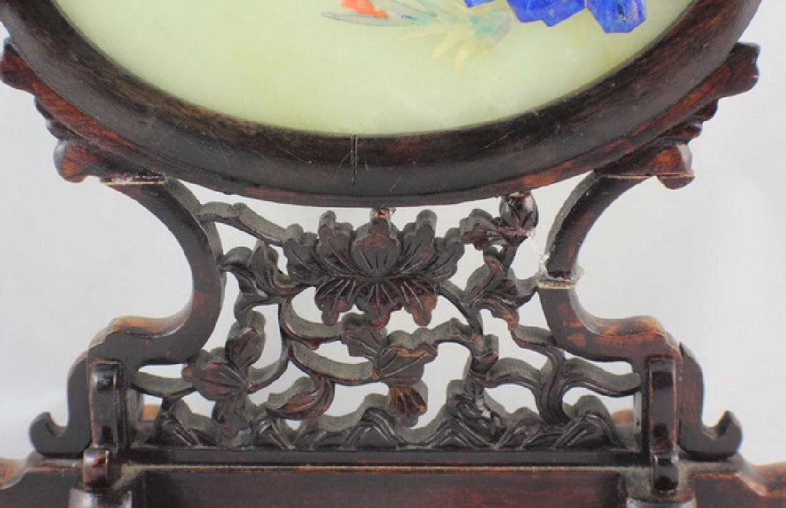 Chinese Carved Jade Table Screen - 10