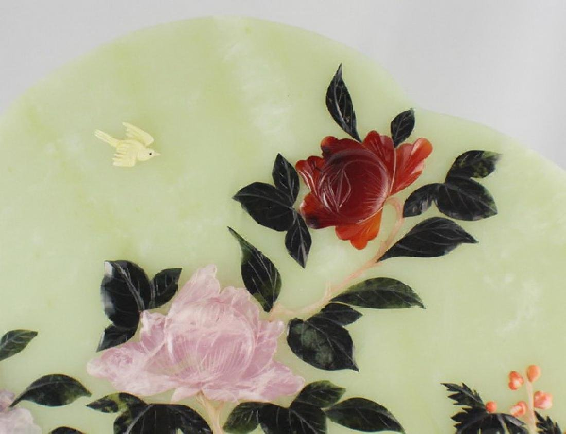 Chinese Carved Jade Table Screen - 5